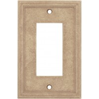 Single GFCI Cast Stone Wall Plate - Sienna