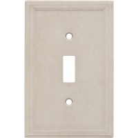 Single Toggle Cast Stone Wall Plate - Sand