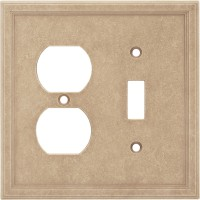 Single Toggle Duplex Combo Cast Stone Wall Plate - Sienna