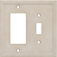 Single Toggle/GFCI Combo Cast Stone Wall Plate - Sand