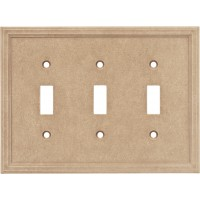 Triple Toggle Cast Stone Wall Plate - Sienna