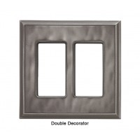 Classic Water Nickel Silver Magnetic Double Decorator Wall Plate