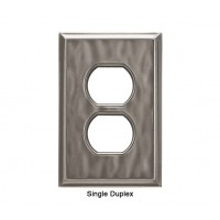 Classic Water Nickel Silver Magnetic Single Duplex Wall Plate