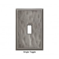 Classic Water Nickel Silver Magnetic Single Toggle Wall Plate