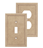 Cast Stone Wall Plates - Sienna