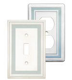 Color Accents Wall Plates - Cool Blue image