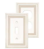 Color Accents Wall Plates - Grey