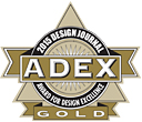 Recipient of the prestigious 2015 Gold ADEX Design Journal: Award for Design Excellence