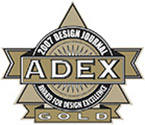 Recipient of the prestigious Gold ADEX Design Journal: Award for Design Excellence