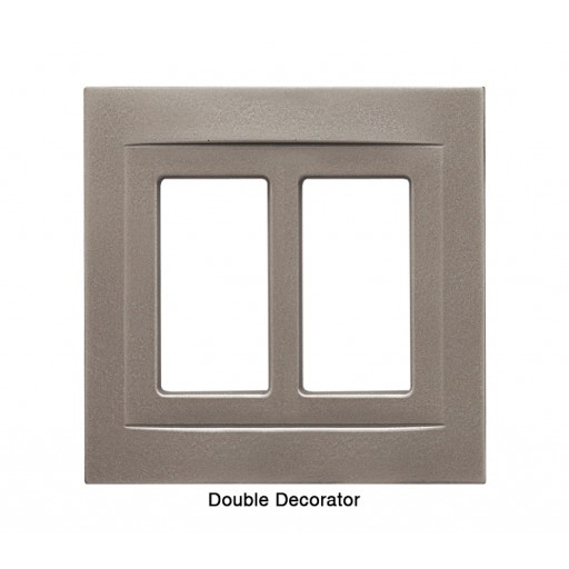 Signature Brushed Nickel Magnetic Double Decorator Wall Plate