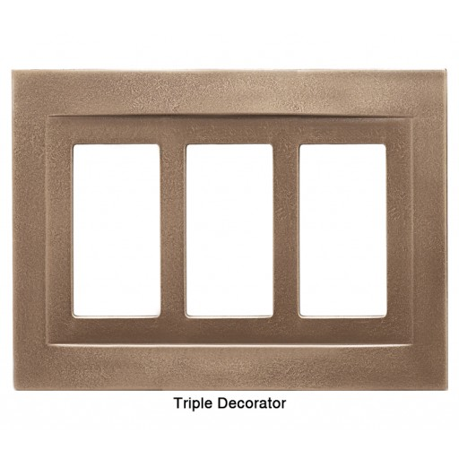 Signature Classic Bronze Magnetic Triple Decorator Wall Plate