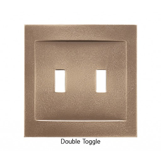 Signature Classic Bronze Magnetic Double Toggle Wall Plate