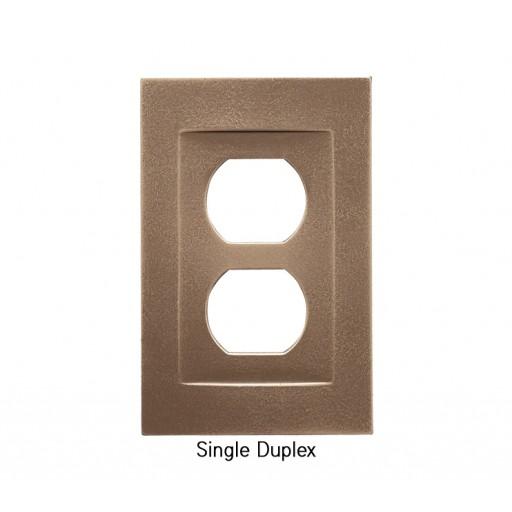 Signature Classic Bronze Magnetic Single Duplex Wall Plate