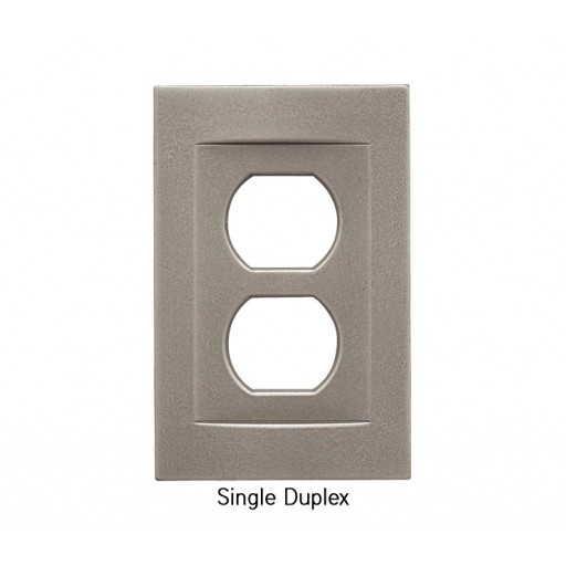 Signature Brushed Nickel Magnetic Single Duplex Wall Plate