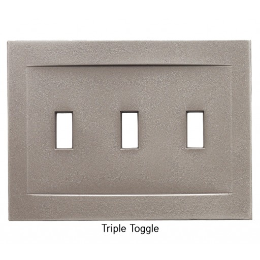 Signature Brushed Nickel Magnetic Triple Toggle Wall Plate