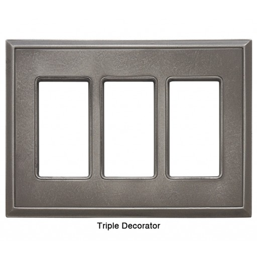 Classic Nickel Silver Magnetic Triple Decorator Wall Plate
