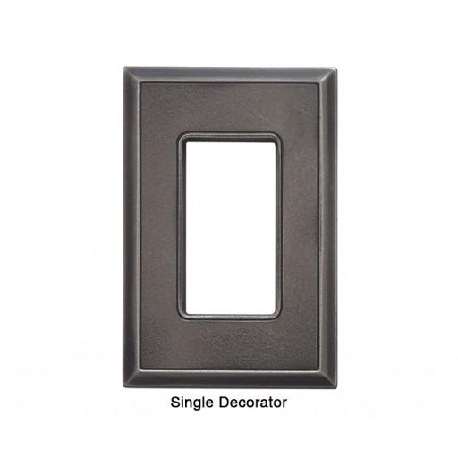 Classic Timeworn Steel Magnetic Single Decorator Wall Plate
