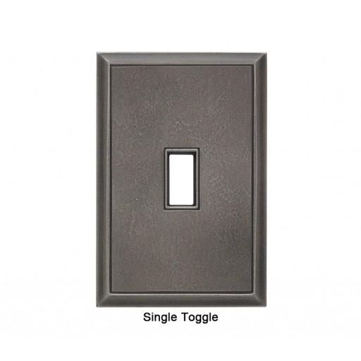 Classic Timeworn Steel Magnetic Single Toggle Wall Plate
