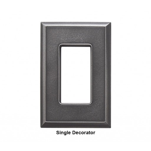 Classic Wrought Iron Magnetic Single Decorator Wall Plate
