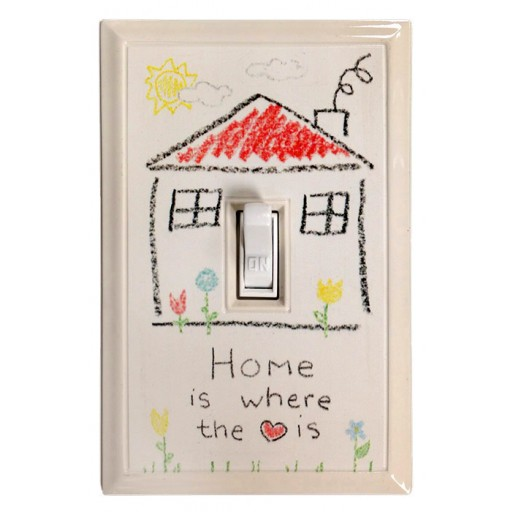 Home Sweet Home Kids' Deco Magnetic Wall Plate