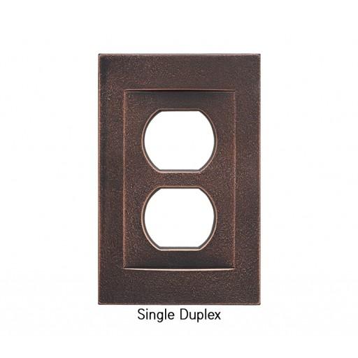 Signature Oil Rubbed Bronze Magnetic Single Duplex Wall Plate