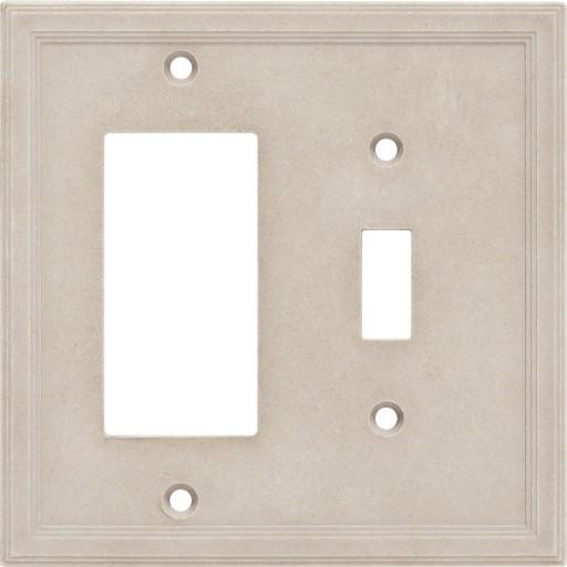 Single Toggle/GFCI Combo Cast Stone Wall Plate - Sand