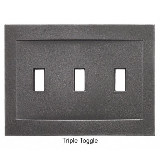 Signature Wrought Iron Magnetic Triple Toggle Wall Plate