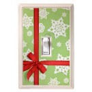 Christmas Ribbon Holiday Deco Magnetic Wall Plate