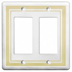 Double GFCI Color Accents Wall Plate - Beige