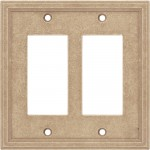 Double GFCI Cast Stone Wall Plate - Sienna