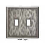 Classic Water Nickel Silver Magnetic Double Toggle Wall Plate