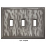Classic Water Nickel Silver Magnetic Triple Toggle Wall Plate