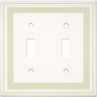 Double Toggle Color Accents Wall Plate - Soft Sage