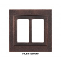 Signature Oil Rubbed Bronze Magnetic Double Decorator Wall Plate