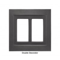 Signature Wrought Iron Magnetic Double Decorator Wall Plate