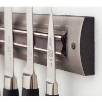 Brushed Nickel Knife Rack