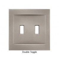 Signature Brushed Nickel Magnetic Double Toggle Wall Plate