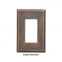 Classic Antique Bronze Verdigris Magnetic Single Decorator Wall Plate