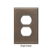 Classic Antique Bronze Verdigris Magnetic Single Duplex Wall Plate