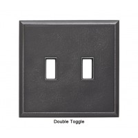 Classic Wrought Iron Magnetic Double Toggle Wall Plate