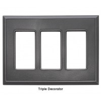 Classic Wrought Iron Magnetic Triple Decorator Wall Plate