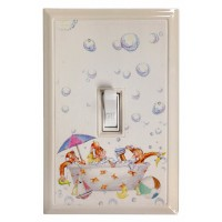 Monkeys in a Tub Kid's Deco Magnetic Wall Plate