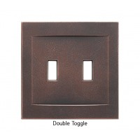 Signature Oil Rubbed Bronze Magnetic Double Toggle Wall Plate