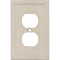Single Duplex Cast Stone Wall Plate - Sand