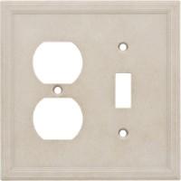 Single Toggle Duplex Combo Cast Stone Wall Plate - Sand
