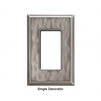 Classic Water Nickel Silver Magnetic Single Decorator Wall Plate