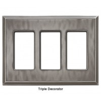 Classic Water Nickel Silver Magnetic Triple Decorator Wall Plate