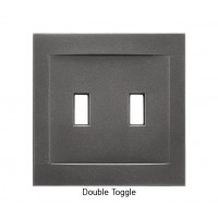 Signature Wrought Iron Magnetic Double Toggle Wall Plate